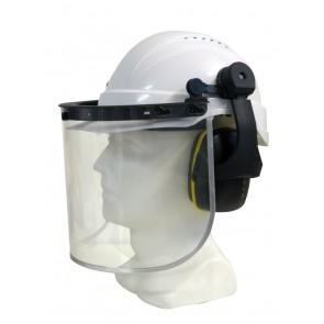 Maxisafe Helmet Earmuff and Clear Visor