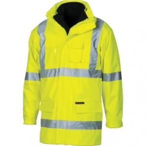 Hi Vis DNC 6 In 1 Jacket - Cross Back CSR REF Tape (Hi Vis) Yellow