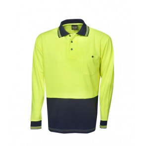 Blue Whale HV Light Weight Cooldry Long Sleeve Polo