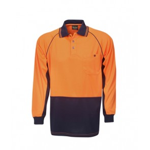 Budget HV Cooldry Raglan Long Sleeve Polo