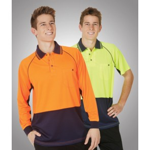 Budget HV Cooldry Raglan Long Sleeve Polo - Model