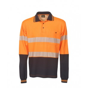 Budget HV Segment Taped Cotton Back Long Sleeve Polo