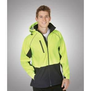 Budget HV NN Soft Shell Hooded Jacket - Model