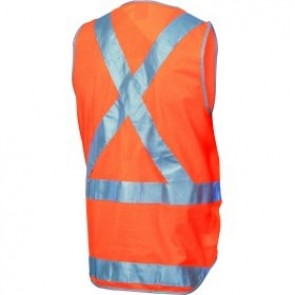 DNC Hi Vis Day/Night X Back Safety Vest with Tail