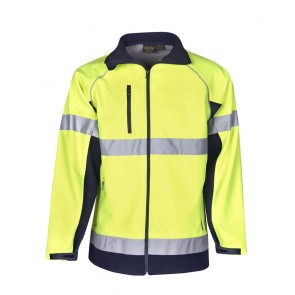Hi Vis Budget Soft Shell Jacket Day Night 300gsm