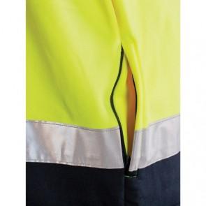 DNC Hi Vis 2 Tone Full Zip Fleecy Sweat Shirt CSR R/Tape