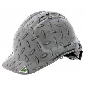 Hydro Dipped Designer Hard Hat - Checker Plate