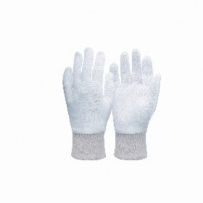 Ladies Interlock White Knit Wrist Glove