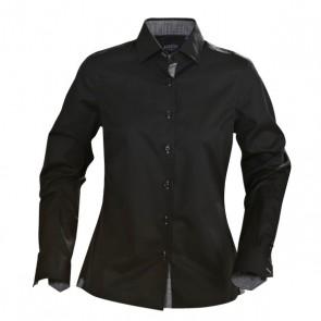 James Harvest Ladies Baltimore Long Sleeve Shirt - Black