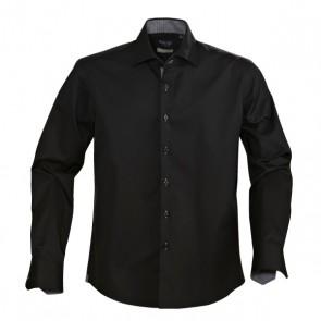 James Harvest Men's Baltimore Long Sleeve Shirt - Black