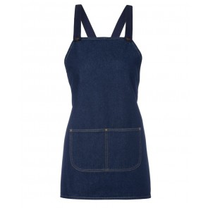 JBs wear Cross Back Denim BIB Apron 71cm (L) x 65cm (W) Navy Front