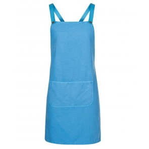 JBs wear Cross Back BIB Canvas Apron 85cm (L) x 78cm  - Aqua