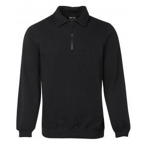 JBs wear 1/2 Zip Fleecy Sweat - Black