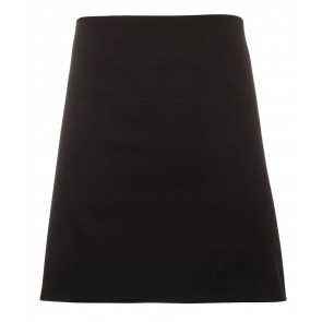 JBs wear Waist Canvas Apron - Black Front