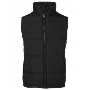 JBs wear Ladies Adventure Puffer Vest - Black Grey