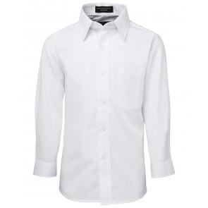 JB's Wear Kids Long Sleeve Poplin Shirt - White