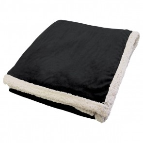 Kanata Faux Lambswool Throw - Black