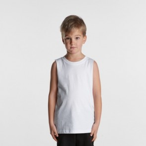 AS Colour Kids Banard Tank - White Model Front