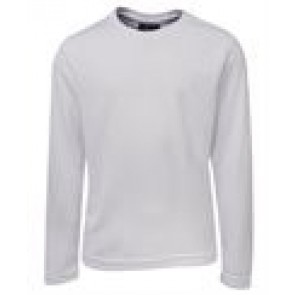 JBs wear Kids Long Sleeve Poly Tee - White Front
