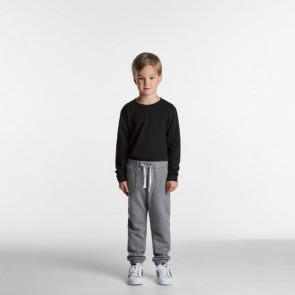 AS Colour Kids Track Pants - Steel Marle Model Front