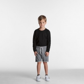 AS Colour Kids Track Shorts - Steel Marle Model Front