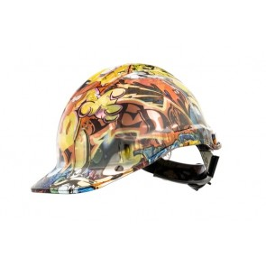 Hydro Dipped Designer Hard Hat - Killer Bunny
