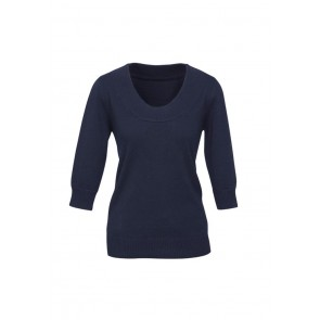 Ladies 80/20 Wool-Rich Pullover Navy