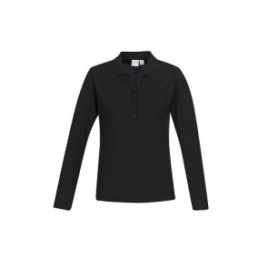 Biz Collection Ladies Crew Long Sleeve Polo
