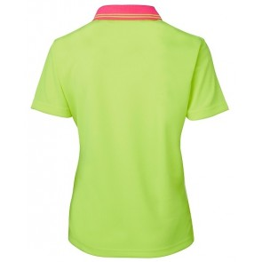 JBs Wear Hi Vis Short Sleeve Ladies Comfort Polo Shirt