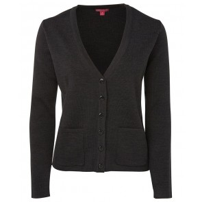 Ladies Knitted Cardigan - Charcoal