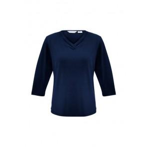 Biz Collection Ladies Lana 3/4 Sleeve Top
