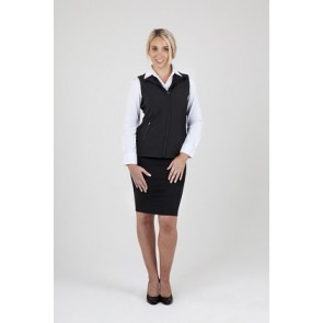 Ramo Ladies Tempest Soft Shell Vest - Black Model Front