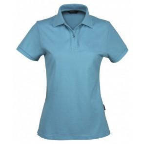Stencil Ladies Traverse Short Sleeve Polo Shirt - Aqua