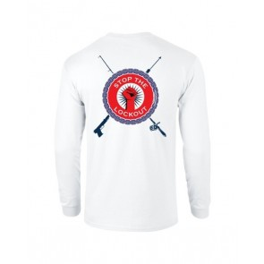 Stop The Lockout Custom Printed Long Sleeve T Shirt