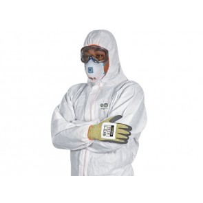 Force360 Defender FR Type 5,6 Fire Retardant Disposable Coverall White