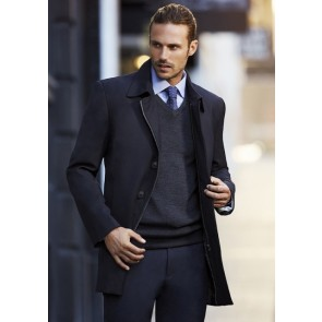 Biz Coporate Men's Lined Car Coat