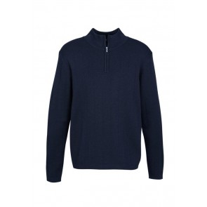 Biz Collection Mens 80/20 Wool-Rich Pullover
