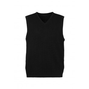 Mens 80/20 Wool-Rich Vest Black