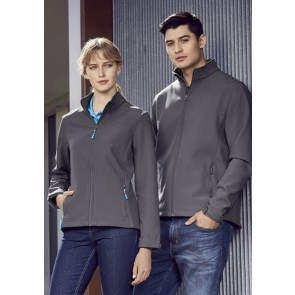 Biz Collection Men's Apex Light Weight Softshell Jacket - Grey Models