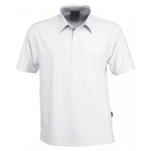 Stencil Men's Argent Short Sleeve Polo Shirt - White