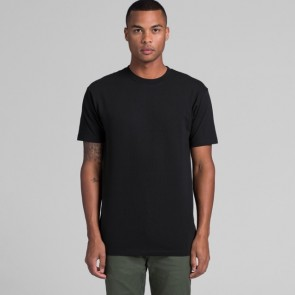 AS Colour Men's Block Tee (3XL-5XL) Black Model Front