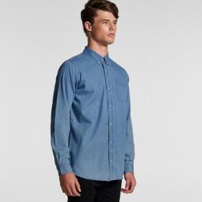 AS Colour Men's Blue Denim Shirt