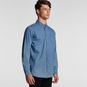 AS Colour Men's Blue Denim Shirt