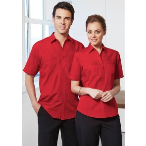 Biz Collection Mens Bondi Short Sleeve Shirt - Models