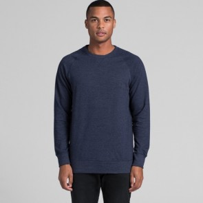 AS Colour Men's Brush Crew - Navy Marle Model Front