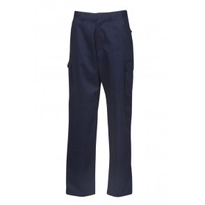 Budget Light Weight Cargo Navy Trousers 190gsm