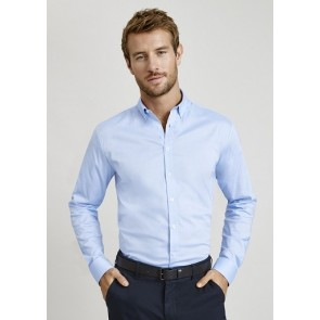 Biz Collection Mens Camden Long Sleeve Shirt - BLUE MODEL