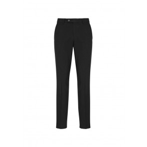 Biz Collection Mens Classic Slim Pant - Black