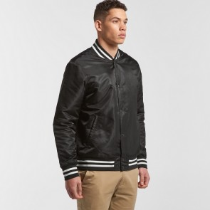 AS Colour Mens College Bomber Jacket
