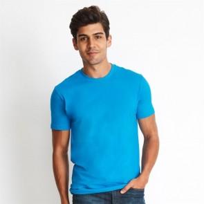 Next Level Men's Cotton Crew - Turquoise Model
